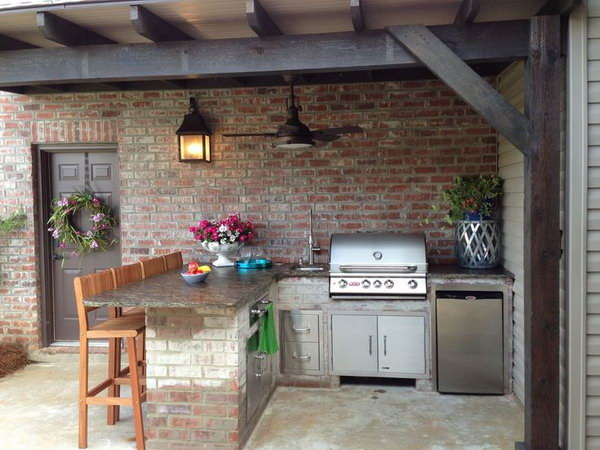 25 Cool And Practical Outdoor Kitchen Ideas Hative