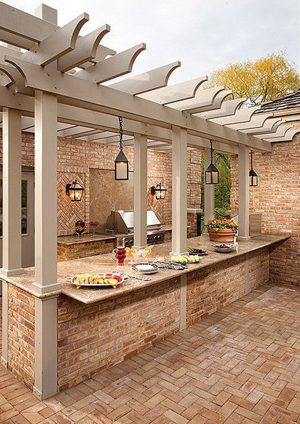 25 Cool and Practical Outdoor Kitchen Ideas - Hative