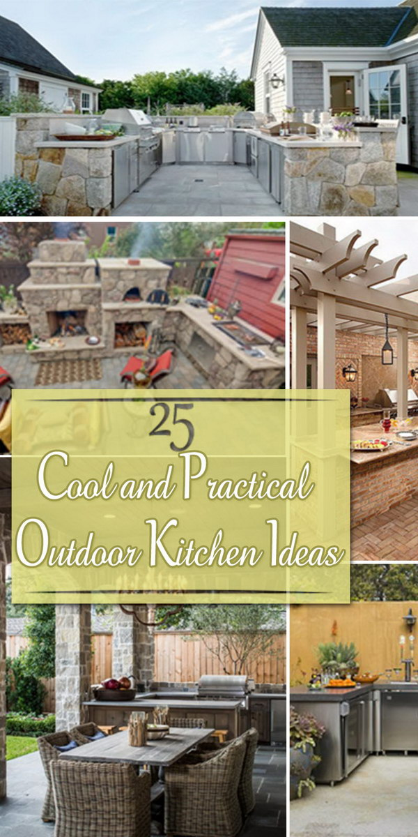 25 cool and practical outdoor kitchen ideas hative for Cool outdoor kitchen ideas