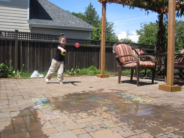 Angry Birds Water Balloon Game. Fill your balloons, add angry bird faces with permanent marker. Draw pigs with chalk. It's time to smash at the pigs. The kids will have a lot of fun on hot summer days.