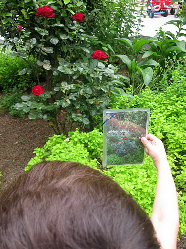 Backyard Photo Scavenger Hunt. Take pictures of things all around your yard, print them out, add the ring to collect all the photos. Ask your kids to study the photos and go hunting. Your kid must enjoy this funny game.