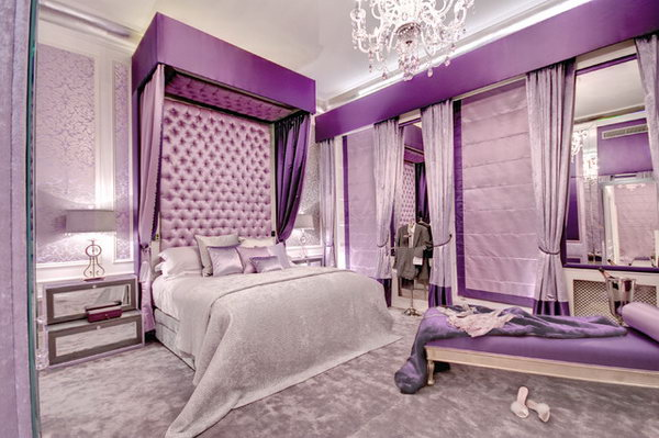 Slight Silvers With Purples Bedroom