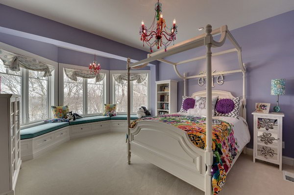 80 inspirational purple bedroom designs ideas hative - Little girl purple bedroom ideas ...