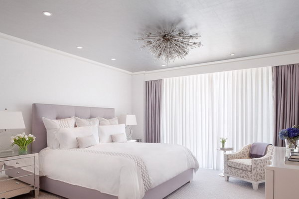 Grey Purple Color For A Tumblr Feel. This Simple Bedroom With The Lilac  Color Palette