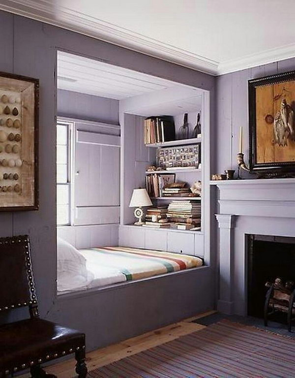 Reading Nooks This Is Such A Cool Spot I Love How The Purple And
