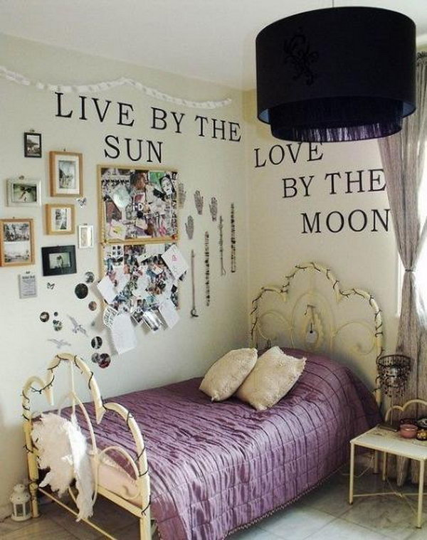 Ideas For A Purple Bedroom Part - 32: Vintage Room Decor