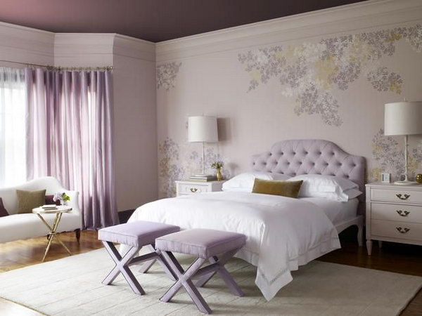Lilac And White Bedroom