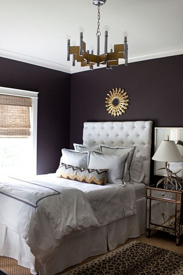 Wonderful Deep Purple Bedroom Ideas Part - 7: Deep Purple Wall