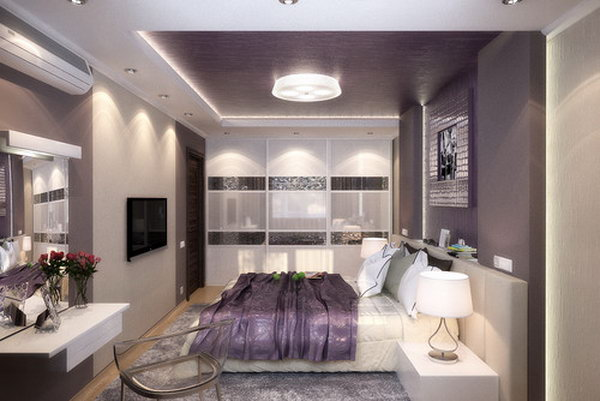 80 inspirational purple bedroom designs ideas hative for Purple and silver bedroom designs