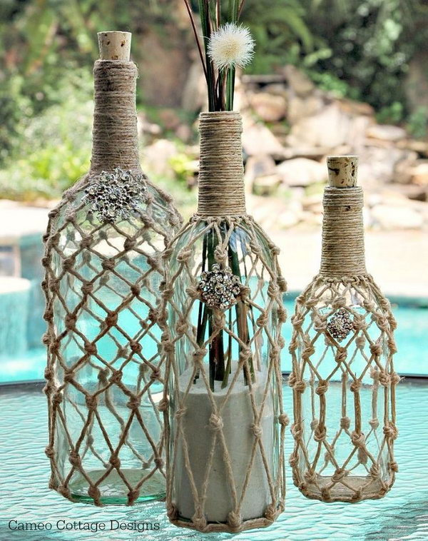 DIY Decorative Wine Bottle.