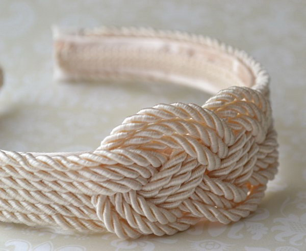DIY Rope Knot Headband.You are always on trend with this rope crocheted shift dresses. This tutorial does a really good job showing you how.