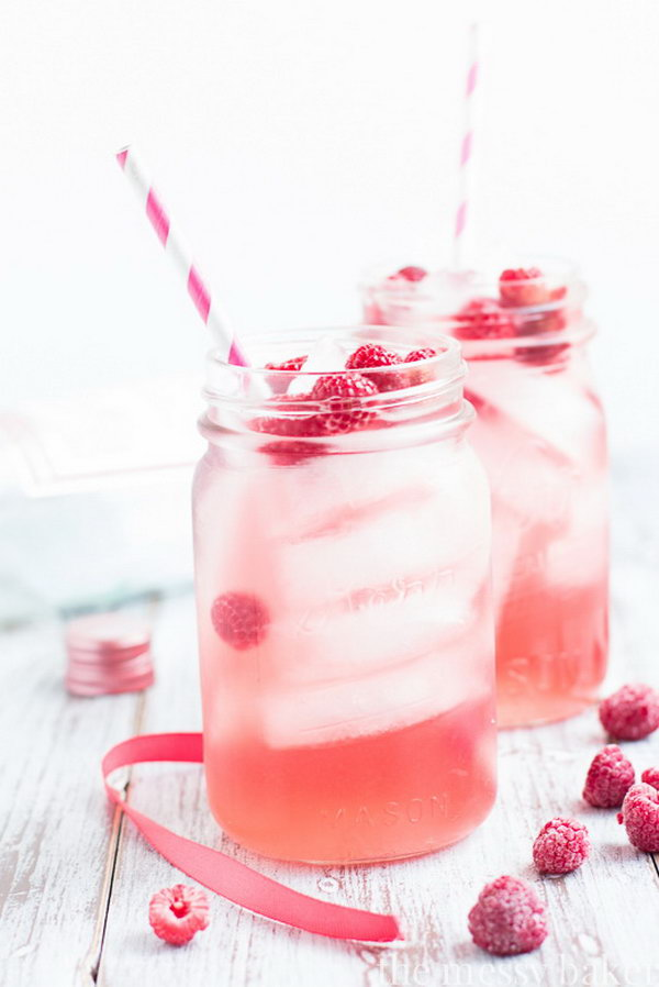 Raspberry Moscato Sangria Cocktail