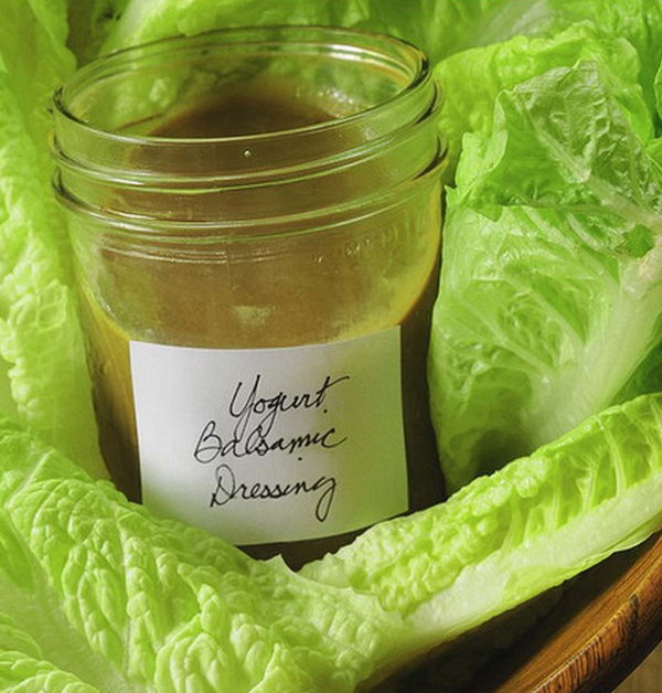 Low Calorie Creamy Balsamic Salad Dressing. If you enjoy  balsamic vinaigrette on your salads,you will love this creamy balsamc dressing very much.