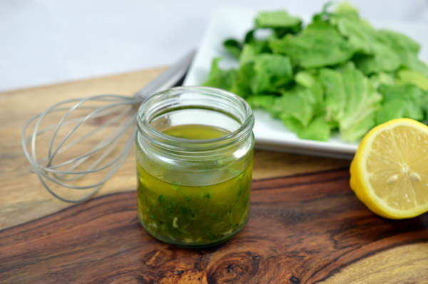 Fresh Lemon Herb Dressing. You can pick up your favorite herbs from your garden to make this healthy salad dressing with other ingredients, like dill , parsleys and some fresh lemons.