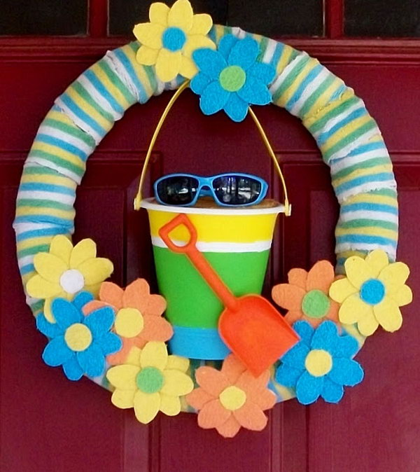 Do It Yourself Home Design: 20+ Beautiful Summer Wreath Tutorials And Ideas