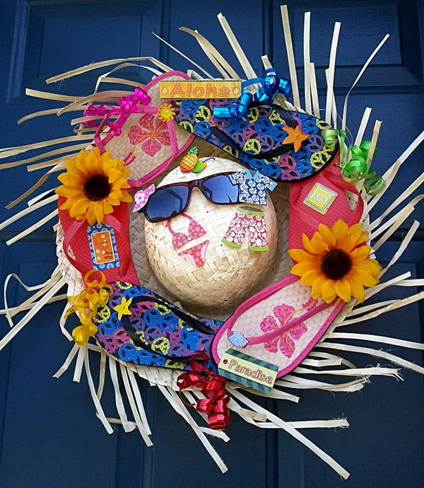 Creative Wreath Ideas: 20+ Beautiful Summer Wreath Tutorials And Ideas
