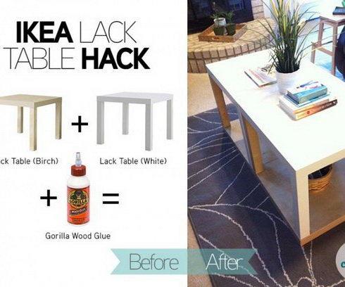 20 ikea lack table hacks hative - Ikea serie lack ...