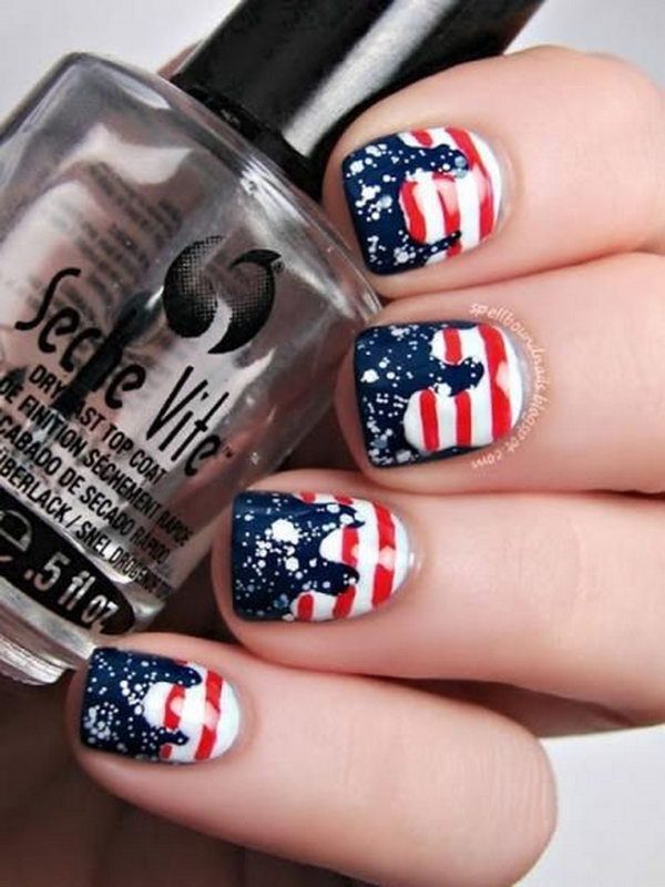 30+ American Flag Inspired Stripes and Stars Nail Ideas & Tutorials ...