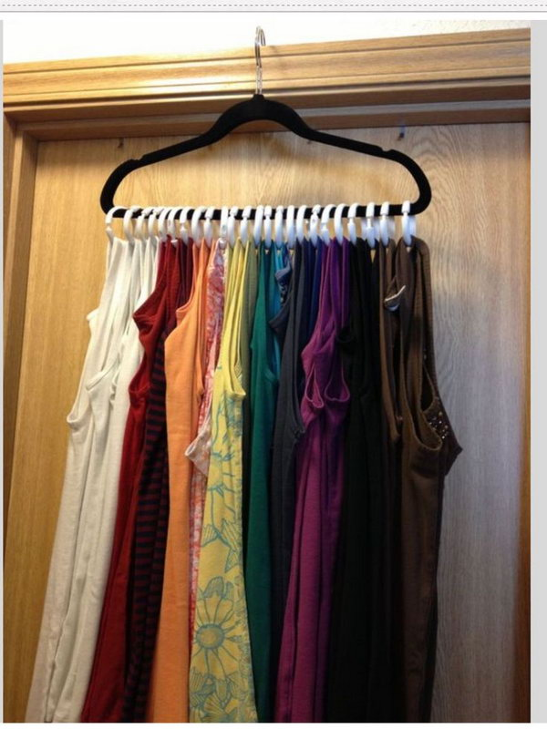 40 clever closet storage and organization ideas hative - Space saving closet ideas ...
