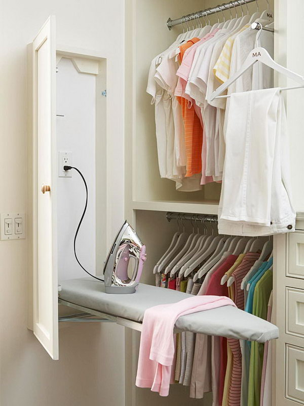 Install a Built in Ironing Board in the Closet