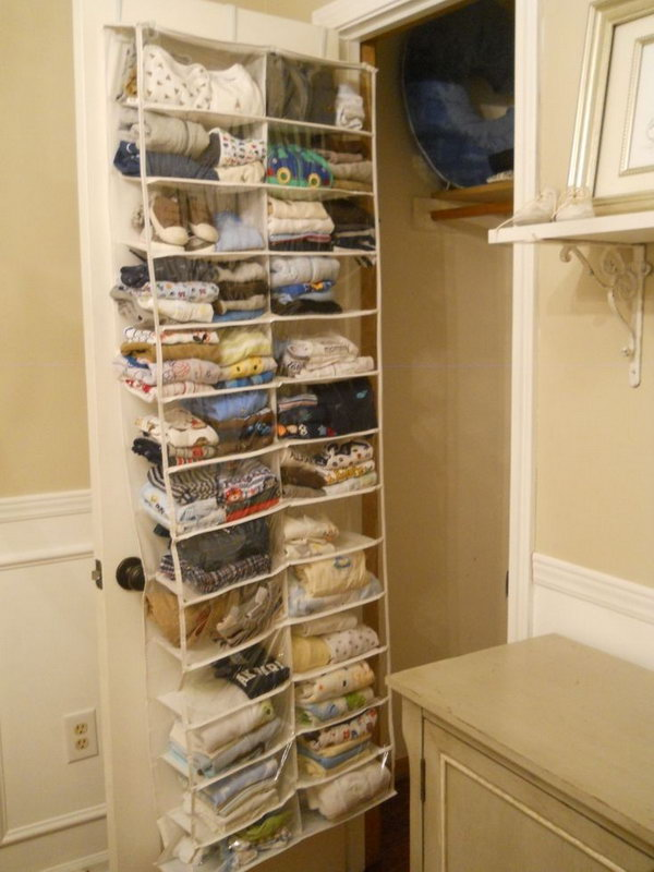40 clever closet storage and organization ideas hative for Extra closet storage