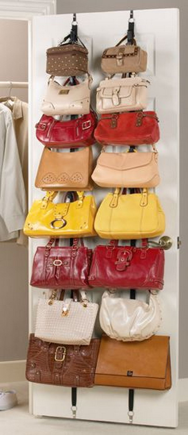 Purse Rack behind the Door