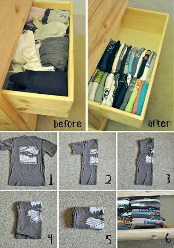 T Shirt Drawer Organization