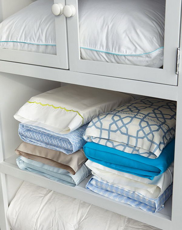 Store Sheets in Their Own Pillow Cases.