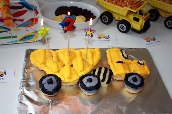 Cute Construction Themed Birthday Party Cake