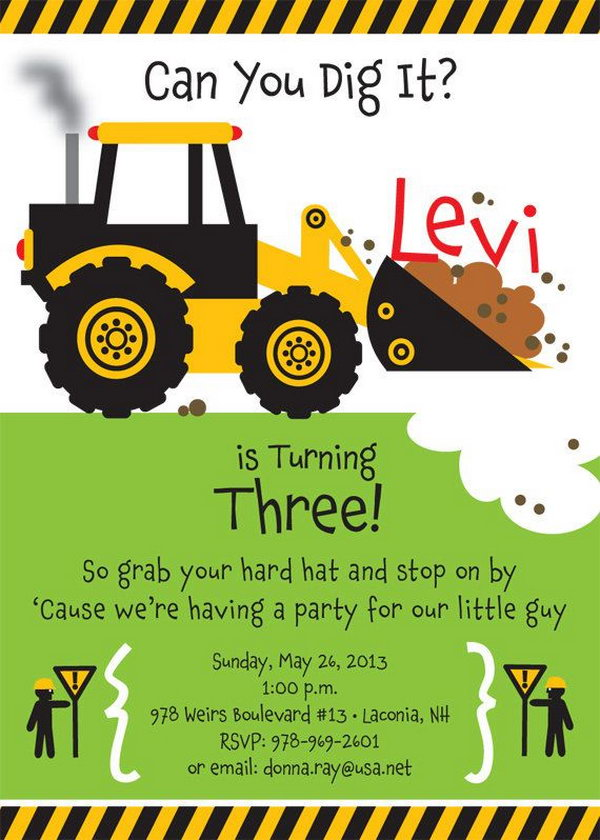40 Construction Themed Birthday Party Ideas Hative – Dump Truck Party Invitations