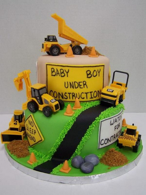 Pleasant 40 Construction Themed Birthday Party Ideas Hative Funny Birthday Cards Online Elaedamsfinfo