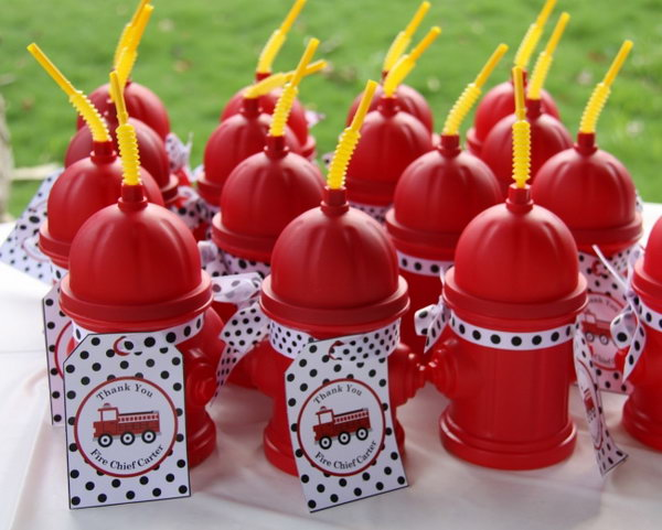 Fire Hydrant Water Plastic Drinking Cups