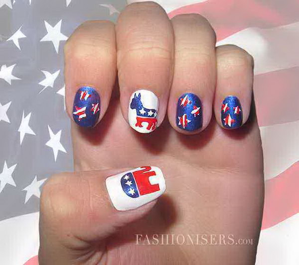 36 Cute 4th of July Patriotic Nail Art Ideas - Hative