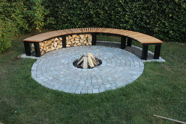 35 diy fire pit ideas hative Fire pit benches