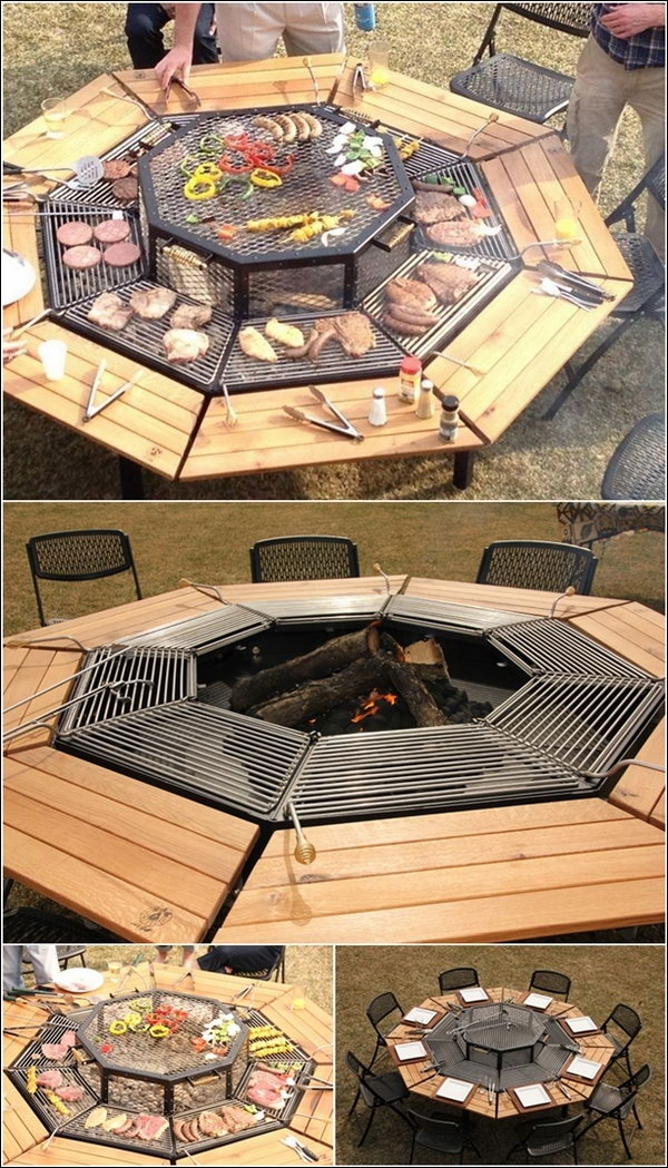Grill Upgraded to a Fire Pit