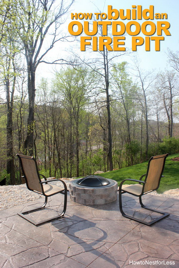 diy patio with fire pit. DIY Patio Fire Pit Diy With