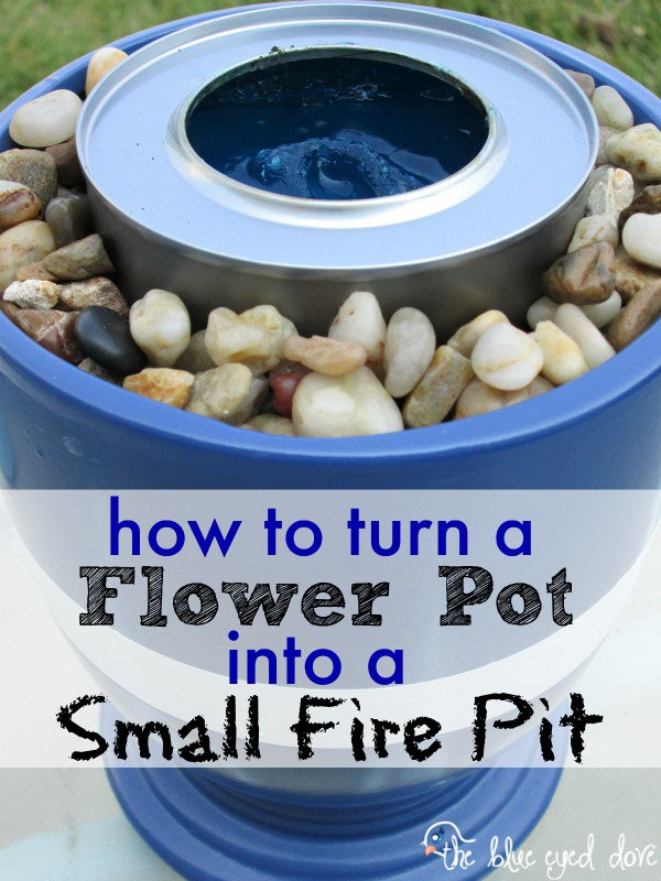 Small Fire Pit with Flower Pot