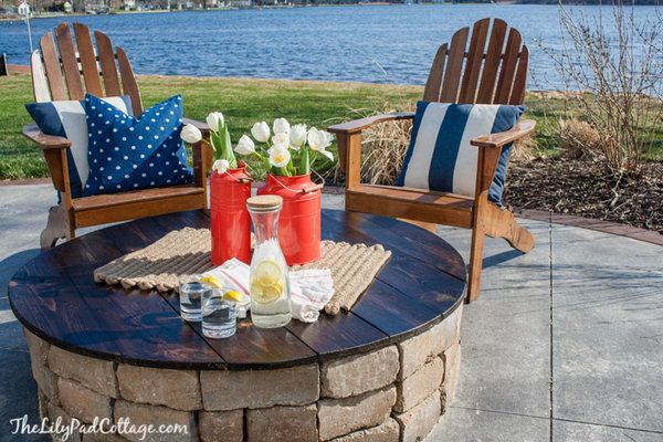 DIY Outdoor Fire Pit with a Table Top