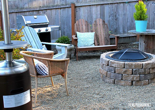 Easy DIY Fire Pit with a Metal Bowl
