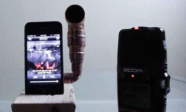 DIY Copper Piping IPhone Amplifier