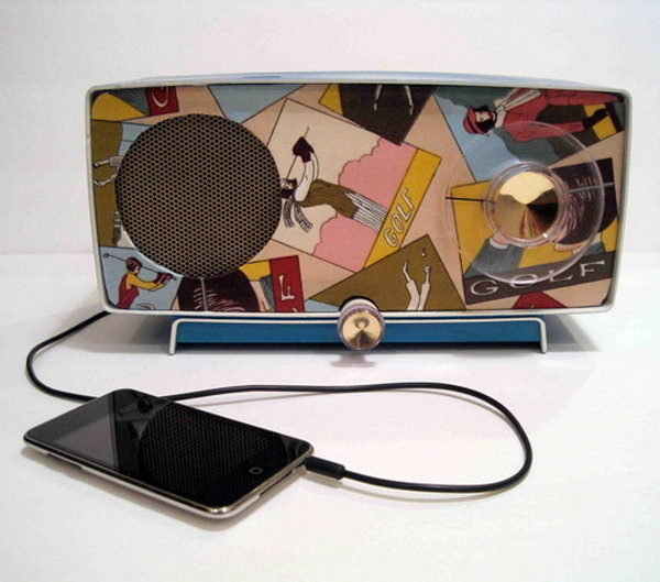 Vintage Radios Repurposed as iPod Speakers: Such a cool vintage to modern  idea! See