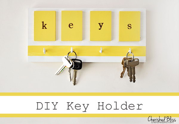 beautifully idea key holders for wall. Simple Bright Key Holder 20  DIY KEY HOLDER IDEAS Patio Furniture Home Decor in South