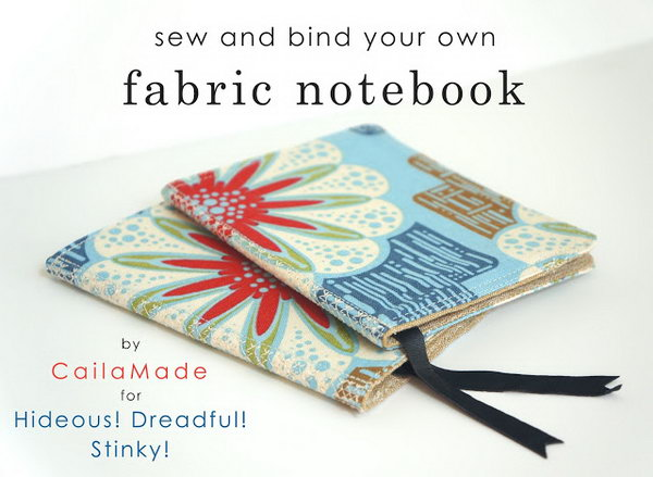 Sew and Bind Fabric Notebooks for Memorial Wedding Favors
