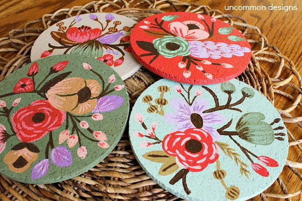 DIY Beautiful Drink Coasters