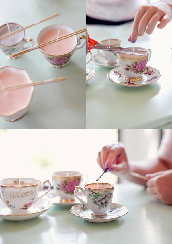 20 easy and usable diy wedding favor ideas hative diy teacup candles junglespirit