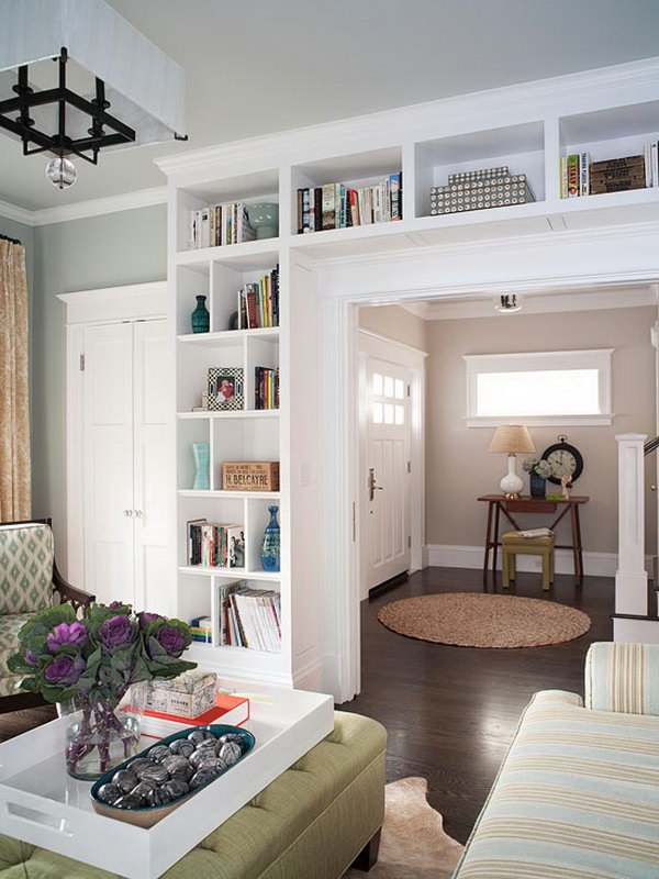 here is one more example of built in bookcases it not only adds a ton