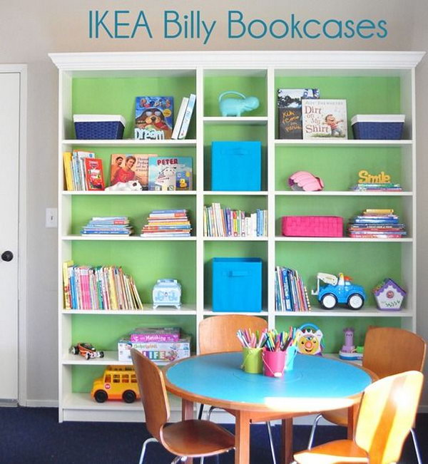 Beautiful IKEA BILLY Bookcases For Kids