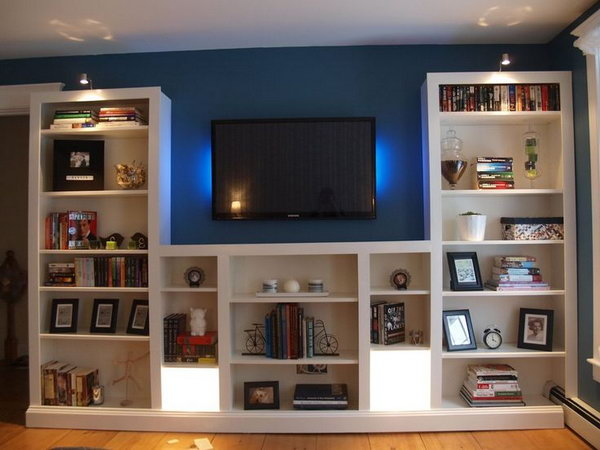 Ikea Billy Bookshelves Transformation