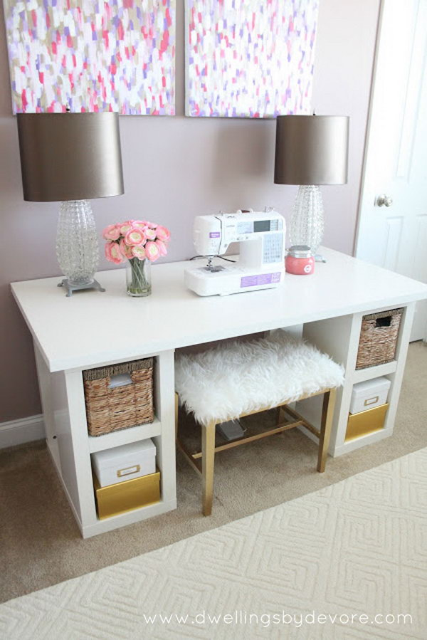 Merveilleux DIY Sewing Desk