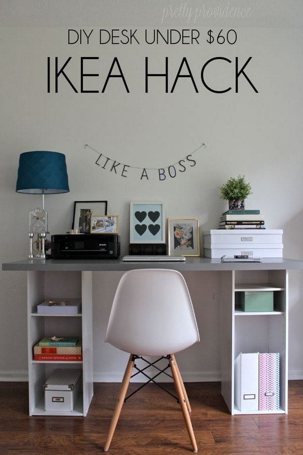 20 cool and budget ikea desk hacks hative Home decor hacks pinterest